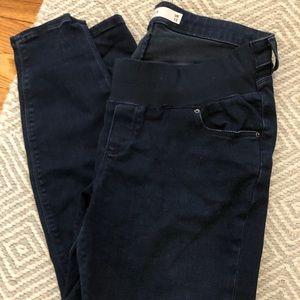 ASOS Dark Denim Belly Band Jeans Sz 8